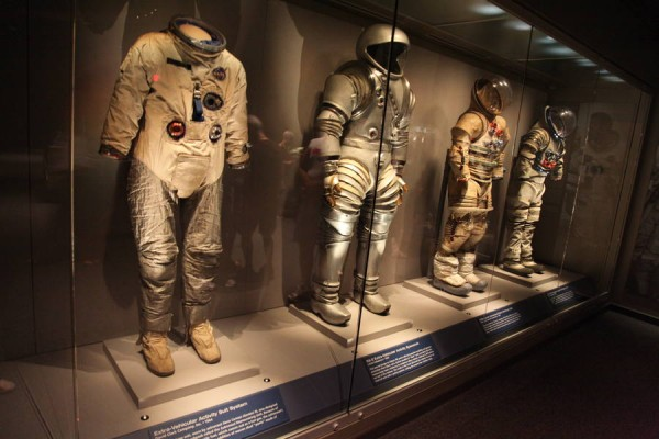Different Versions of Space Suits