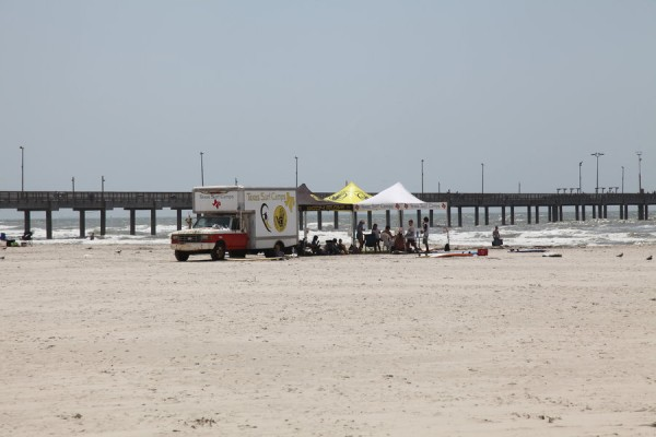 Texas Surf Camp base next to Horace Caldwell pier (close to Port Aransas in Corpus Christi)